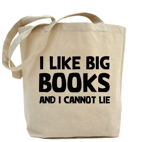 Geek bag: I LIKE BIG BOOKS AND A CANNOT LIE. Old School Geek humour :)