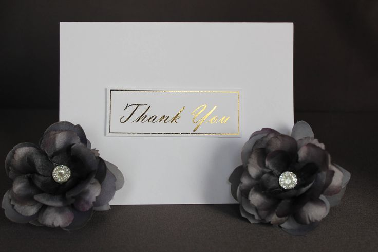 White Thank You Cards With Gold Foil by DazzlingCreationsCA on Etsy