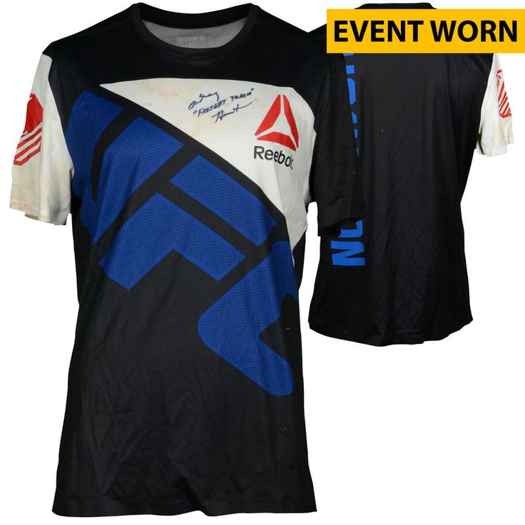 Anthony Hamilton Ultimate Fighting Championship Fanatics Authentic Autographed UFC Fight Night: Cowboy vs. Cowboy Event-Worn Walkout Jersey - Fought Shamil Abdurakhimov in a Heavyweight Bout