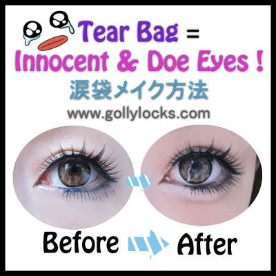 Global Fashion Trend may try it one day soon :P.  Gyaru Makeup Trend: Tear Bag Tutorial