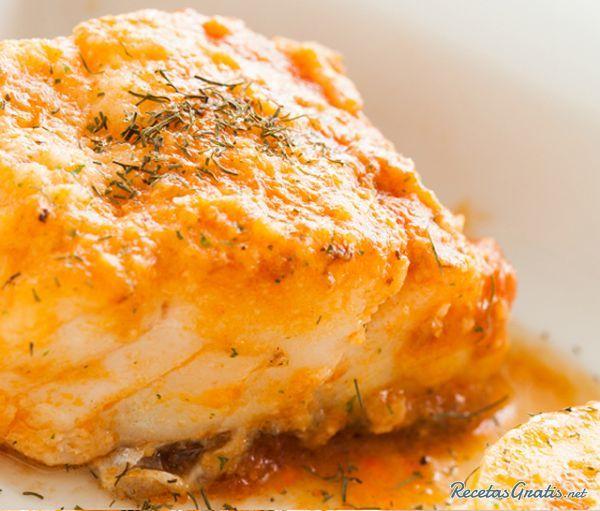 Bacalao fresco con salsa de marisco