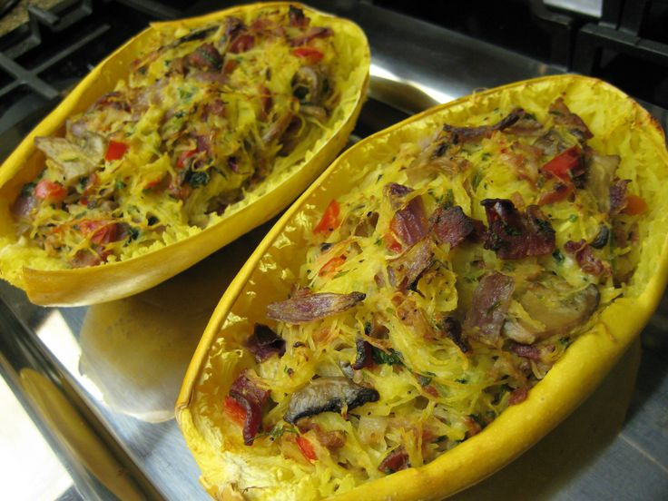 I decided tonight we haven't had Spaghetti Carbonara in years and I wanted to give it a try with spaghetti squash. Good decision, as it came out delicious! I think my husband liked it even more t...