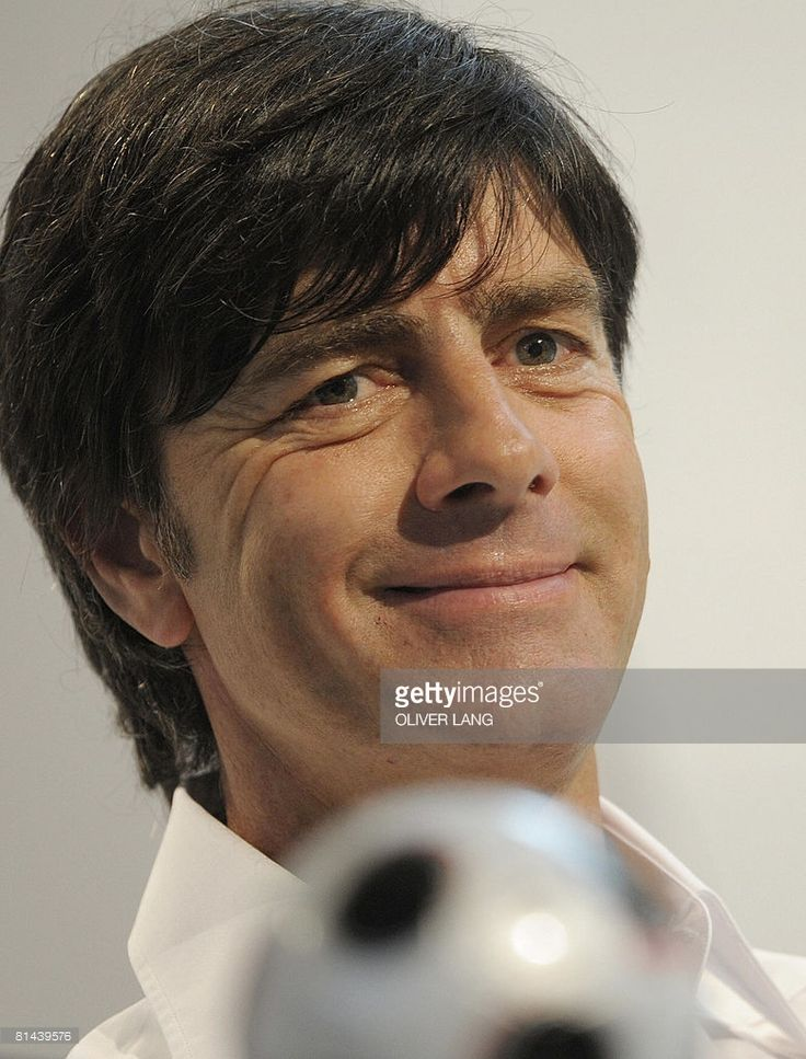 Coach of the German national football team Joachim Loew gives a press conference on June 5, 2008 in Tenero ahead of the Euro 2008 football championship co-hosted by Austria ans Switzerland. Germany plays in Group B with Austria, Croatia and Poland and will play its first match on June 8 against Poland in Klagenfurt.