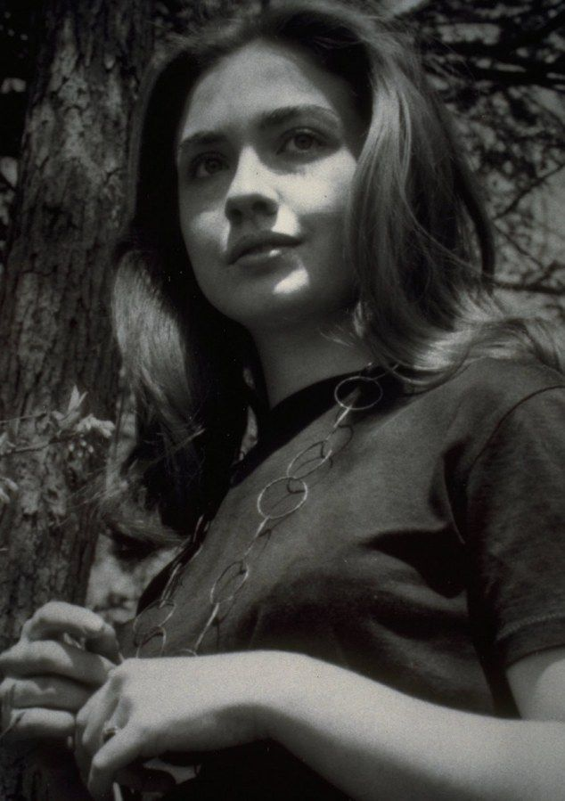 Beauty: Hillary Clinton, pictured as a student in 1969, several years before she met her husband Bill