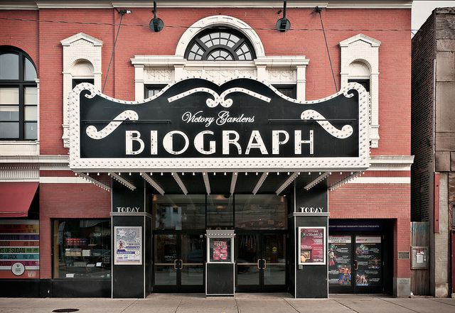 front, Biograph Theater (1914), 2433 North Lincoln Avenue, Lincoln Park, Chicago, Illinois, USA by lumierefl, via Flickr