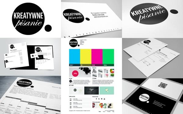 Branding Kreatywne Pisanie/ Creative writing by Joanna Jozwiak, via Behance