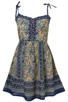 Multi Strappy Gypsy Smock Dress // TOPSHOP...adorable! love the colors too