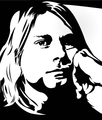 nirvana stencil - Google Search