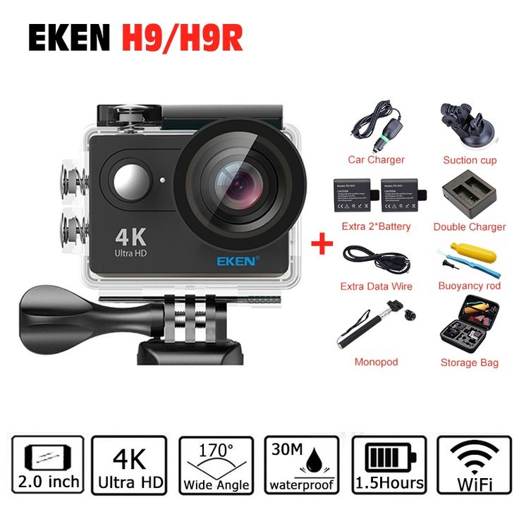 39.99$  Buy now - http://aliua1.shopchina.info/go.php?t=32790363259 - 4 K EKEN H9 H9R Action camera 4K/25fps 1080 P 60fps 2.0 LCD 170D camera WiFi pro Helmet Camera go waterproof sport camera 39.99$ #aliexpresschina