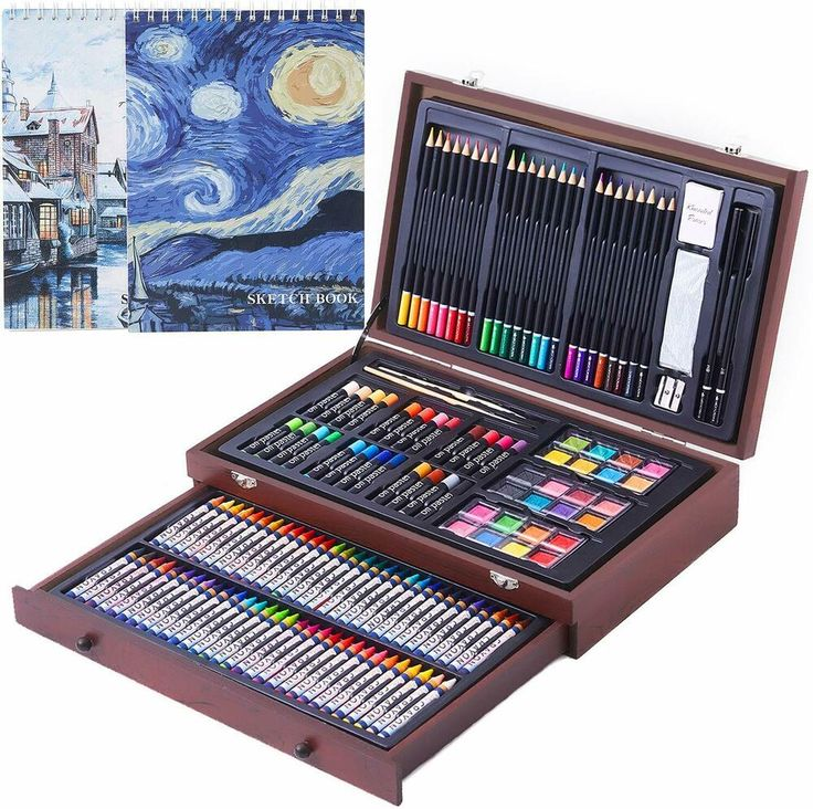 145 Piece Deluxe Art Creativity Set with 2 x 50 Page