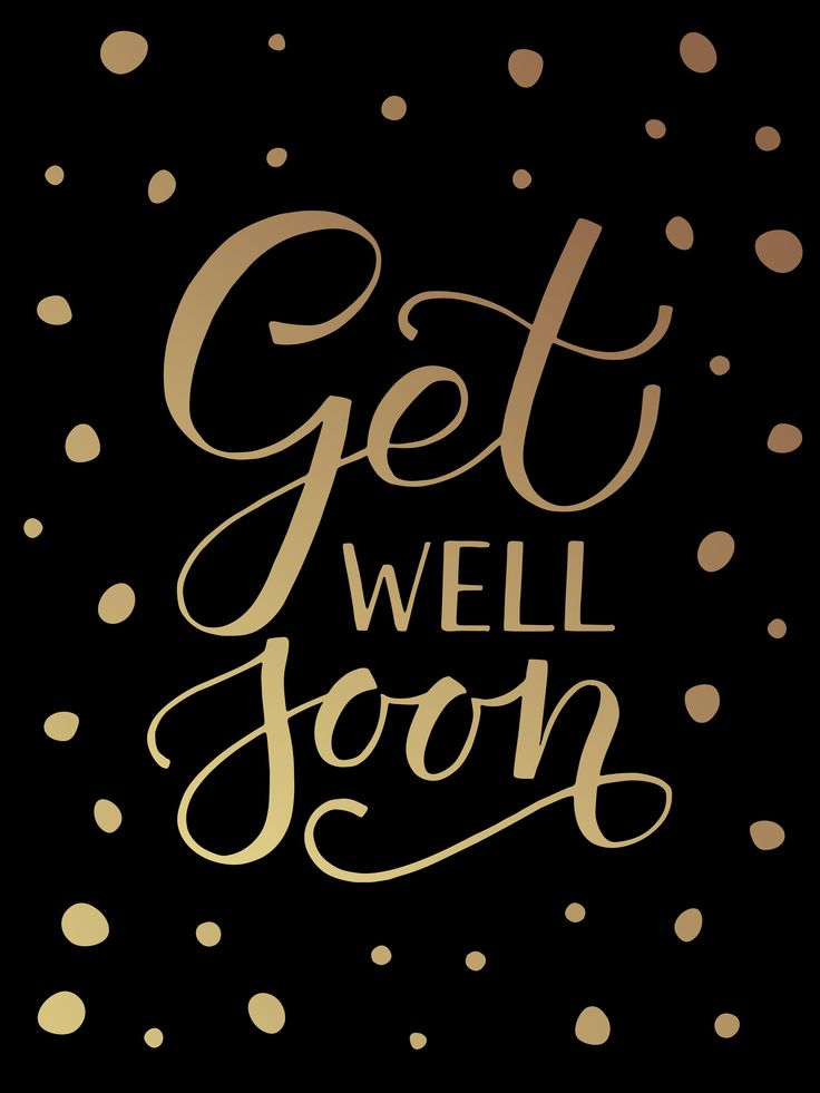 Get Well Soon Lettering Typography by Alps View Art on @creativemarket