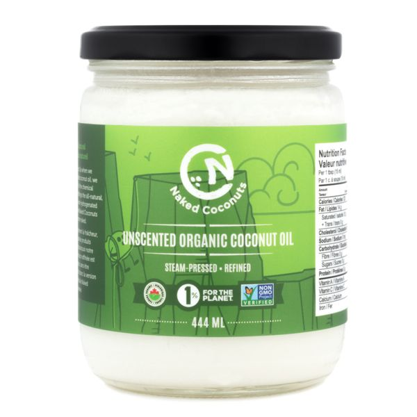 Naked Coconuts Unscented Organic Coconut Oil - 444ml
