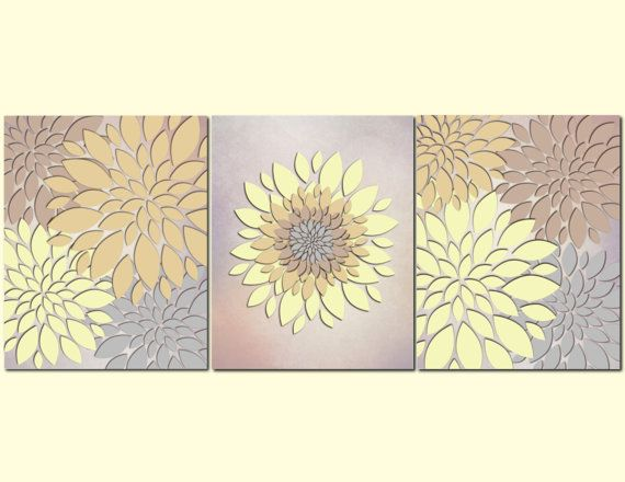 Yellow And Brown Bathroom Decor Of Bathroom Wall Art Bedroom Wall Art Home Decor Flowers