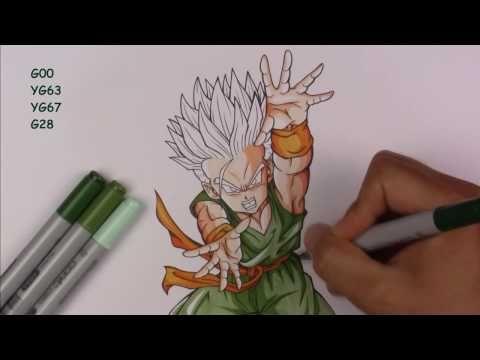 Drawing Kid TRUNKS Super Saiyan | Dragonball Z | TolgArt - YouTube
