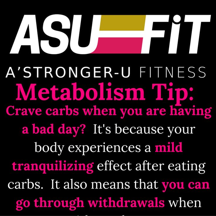 """Do you crave #carbs when you are having a rough day?  Ever wonder why?  It's because your body experiences a tranquilizing effect after eating carbs.    This also means that when you go for long periods without them, you have withdrawals.    Learn about this and more during the #MBMP16 """"Create Your Own Metabolism Based Weight Loss Meal Plan"""" Webinar on 10/25/16 at 7PM CST.      Totally FREE and Totally VIRTUAL.    Register Here:      #BecomingAStrongerU    #Metabolism #WeightLoss #WAHM…"""