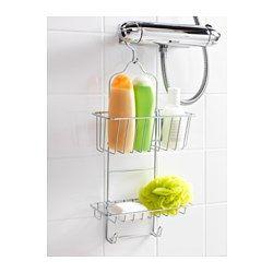 IKEA - IMMELN, Portaoggetti per doccia, 2 piani, È in acciaio zincato, un materiale resistente, che non si arrugginisce.