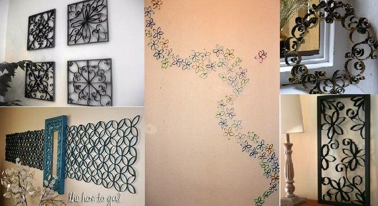 Art with paper rolls. Arte con rollos de papel higienico.