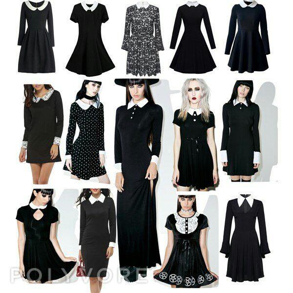 Lol Basically my entire wardrobe! #nugoth #wednesdayaddams #dolldress #peterpancollar  #sexylibrarian #goth #gothlolita #houseofdahlstrom