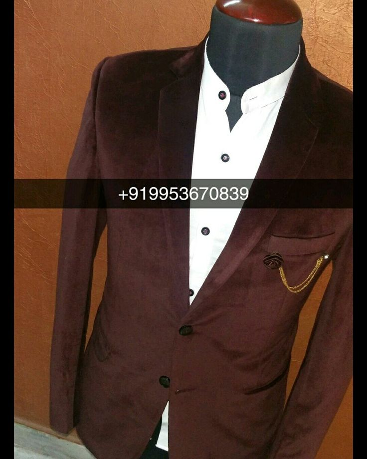 Men Slim Fit Designer Party wear Blazer Readynade as well as Custom made options available.