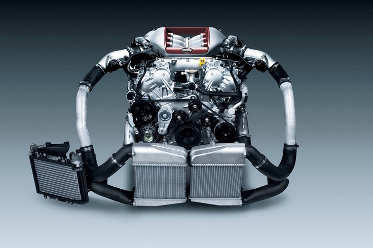 #Nissan GT-R 545 hp twin-turbo V6 #GTR #engine | Motor ...