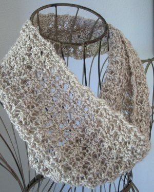 Open and airy, the Madeira Mesh Cowl is ideal for spring time.  Find the free knitting pattern at AllFreeKnitting.com.