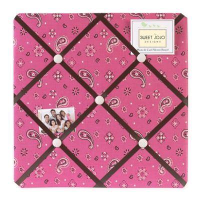 Sweet Jojo Designs Cowgirl Bandana Print Fabric Memo Board - www.BedBathandBeyond.com