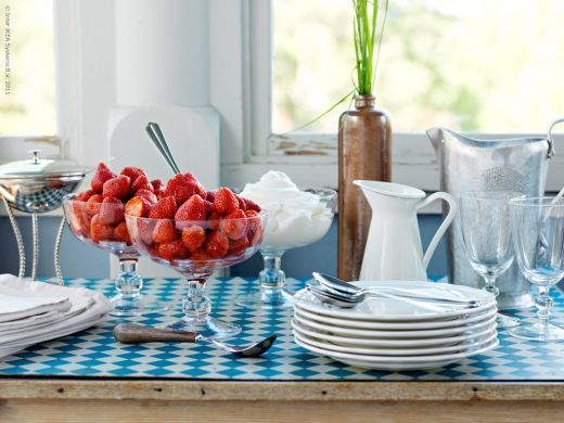"""""""The ARV series was Inspired by the elegance of 18th century design, which was borrowed from the Far East, where the service is produced today. In this way, past traditions are connected with our times, which makes ARV dinnerware feel both new and familiar at the same time."""" Designer Sissa Sundling"""
