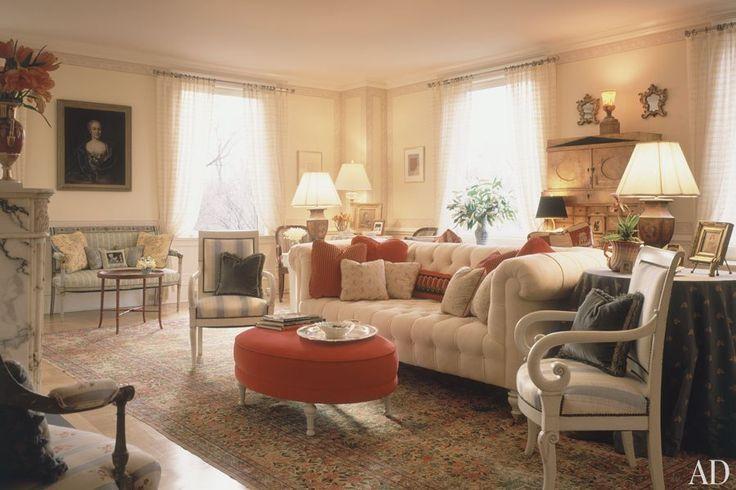 Michael J. Fox & Tracy Pollan's New York City apartment AD October 1997. Interior Design Marc Charbonnet.