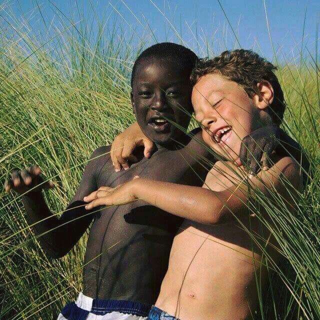 This is what the world SHOULD be like. The color of our skin should not affect how we treat each other!