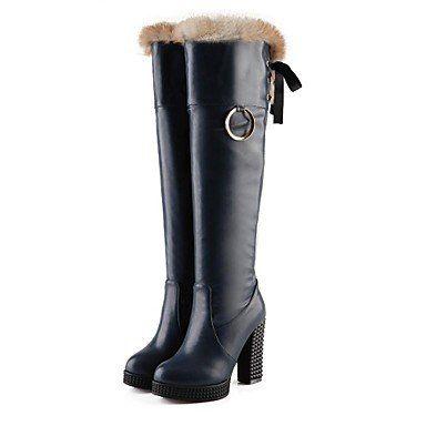 MissBoot Damenschuhe runde Kappe Blockabsatz über das Knie Stiefel mehr Farben erhältlich - http://on-line-kaufen.de/missboot/missboot-damenschuhe-runde-kappe-blockabsatz-3