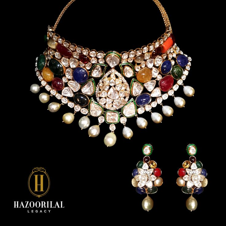 Navaratna, a sacred amalgamation of nine auspicious gems: Diamond, Ruby,Emerald, Sapphire, Pearl, Coral, Hessonite,Catseye and Yellow Sapphire