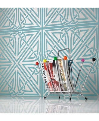 bathroom option: Graham, Bedrooms Wallpapers, Master Bedrooms, Blue Wallpapers, Art Deco, Barbara Hulanicki, Brown Wallpapers, Viva Blue, Wallpapers Design