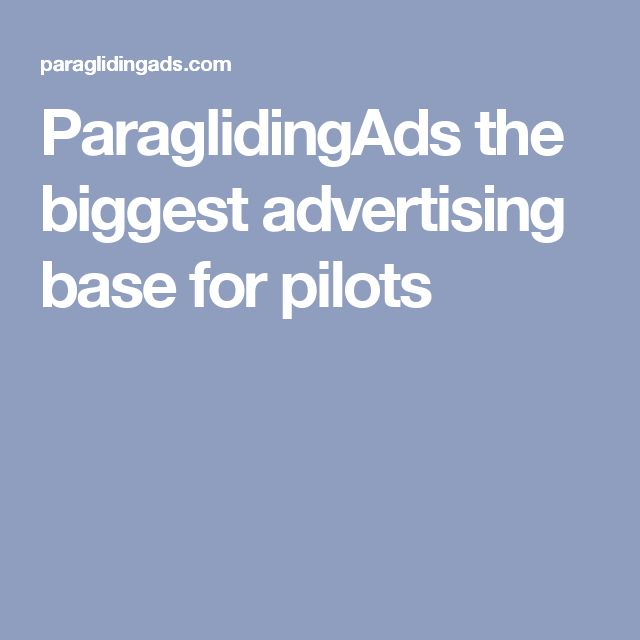 ParaglidingAds the biggest advertising base for pilots