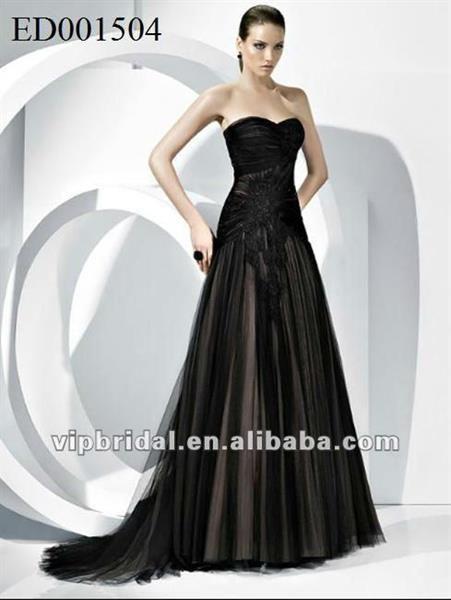 Платье из черной тафты