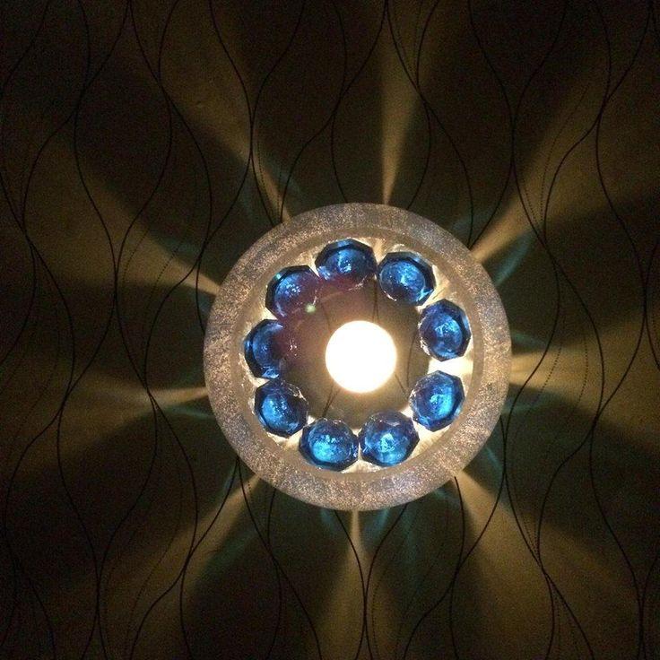 Blue Diamond Flower Centerpiece