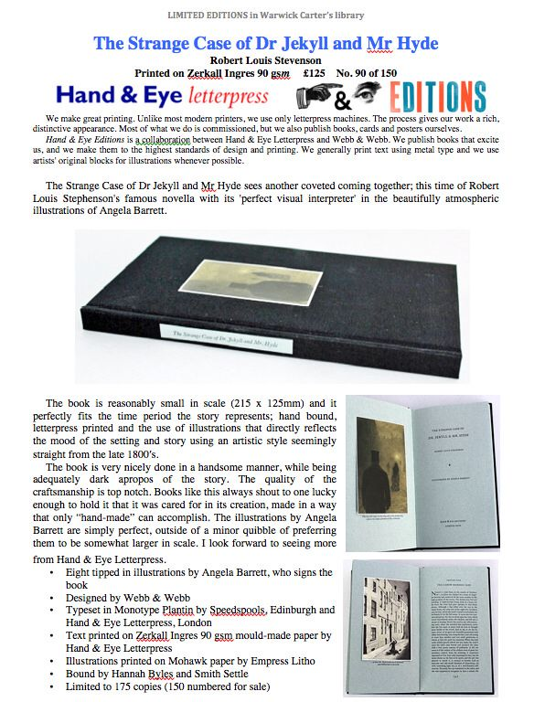 The Strange Case of Dr. Jekyll and Mr. Hyde - Hand & Eye Edition