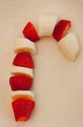 Preschool Christmas Activities: Fruit Cane