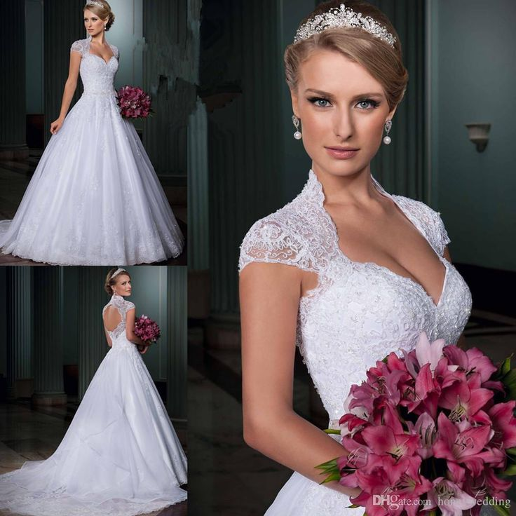 Vestidos De Noiva Vintage Backless Wedding Lace Liques Beaded Crystals Ball Gown Removeable Train Princess Bridal Gowns