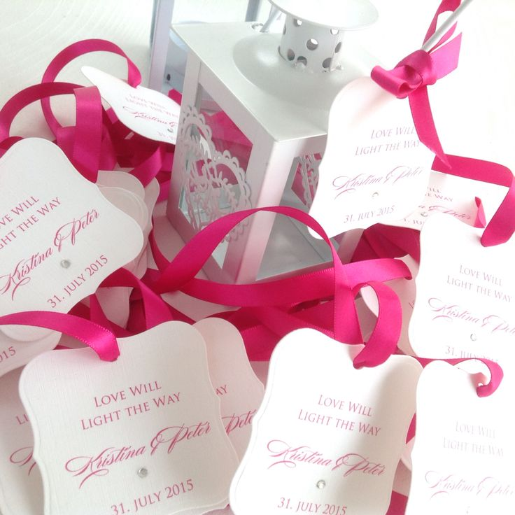 Wedding favour tealight holder tag