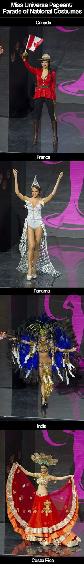 Miss Universe Parade of National Costumes…America chose a Transformer.  WHY?????