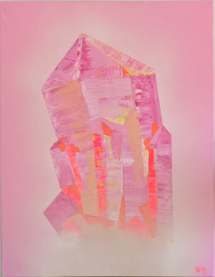 """""""Crystal I"""" Kaja Weum    Acrylic and spray on canvas. 90cm * 70cm"""