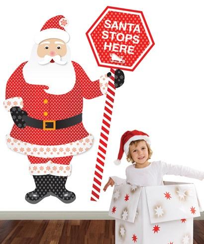 Santa Stops Here Decal  www.belbambinokids.com.au