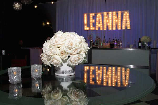 Bling Centerpieces, Diamond Theme Bat Mitzvah {Venue & Party Planning: SPACE NJ, Chris Herder Photography} - mazelmoments.com