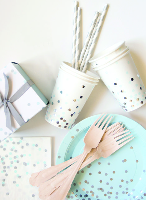 #MY7UPUPGRADE #Contest Paper Eskimo Mint To Be Partyware. Get inspired with a Gold, Mint and Pink Heart Party!   Vintage Mermaid Party |  OWL 1st Birthday | Summery Mint & Peach Wedding Theme | Whimsical Hot Air Balloon Theme | Pink and Mint Bridal Shower. Products available at papereskimo.com