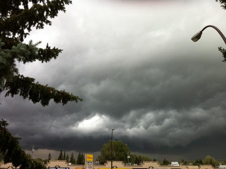 Anger sky in Calgary