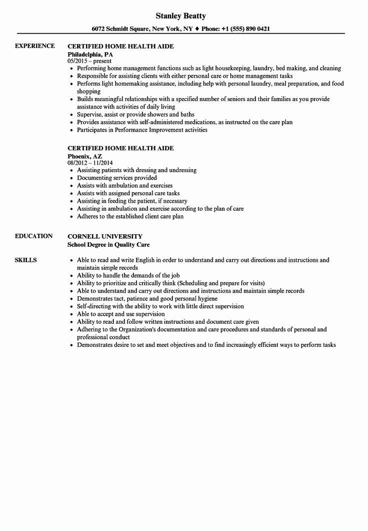 20 Dietary Aide Job Description Resume in 2020 Home