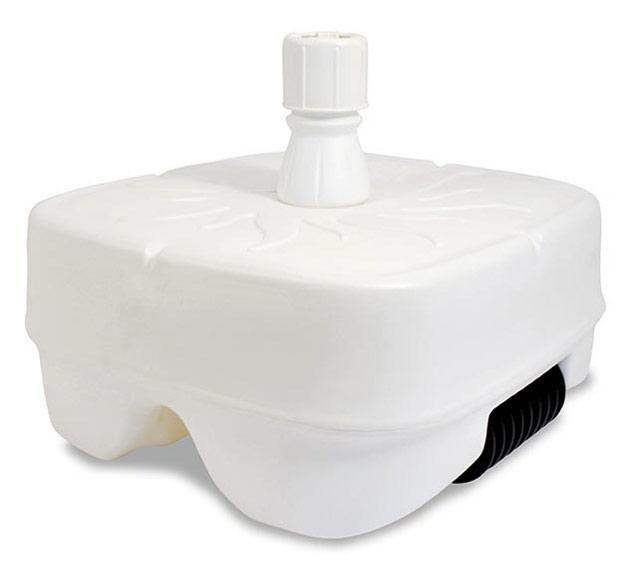 Sonnenschirmständer Kunststoff Marktschirmständer, füllbar 45 ltr. weiß