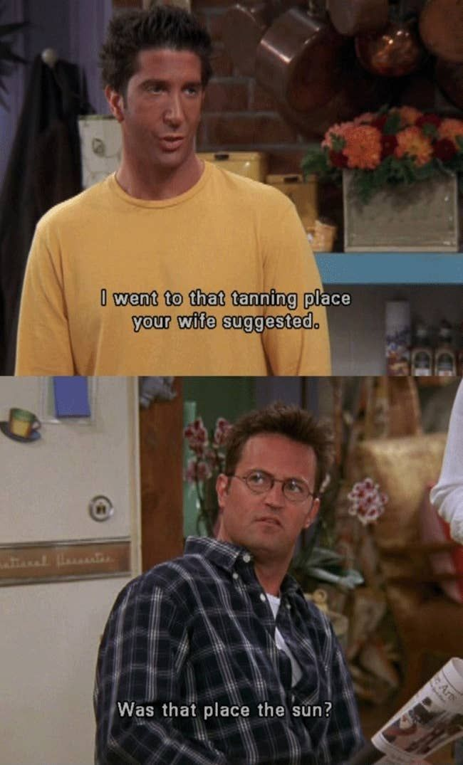 What S The Most Iconic Insult From A Tv Show Funny Sitcoms Ross Tan Friends Moments
