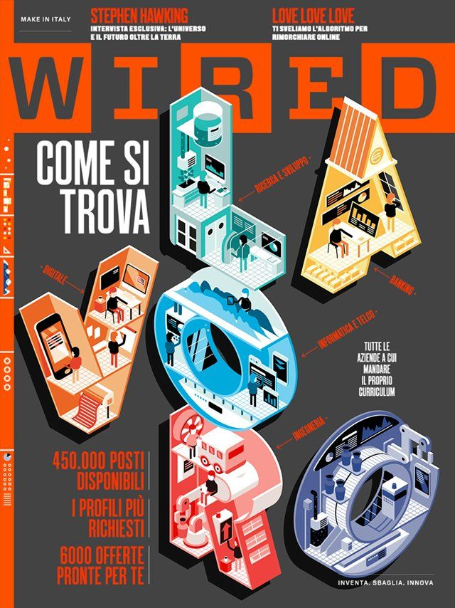 I was asked by Wired Italia to make an animated cover for issue nr. 69 of the digital version of the magazine illustrated by Goran, here's the result!