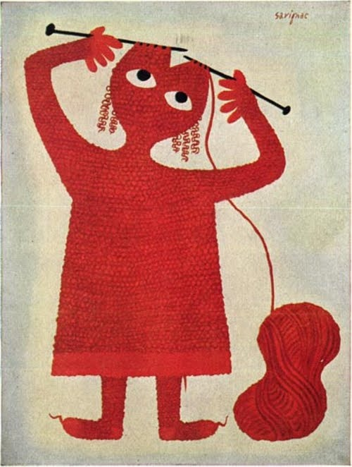love it: French Posters, Red, Picture-Black Posters, The Artists, Illustration, Graphics Design, Crosses Stitches, Raymond Savignac, Knits Projects